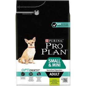 Сухой корм PRO PLAN для собак мелких пород с чувствительным пищеварением,ягненок, 3 кг