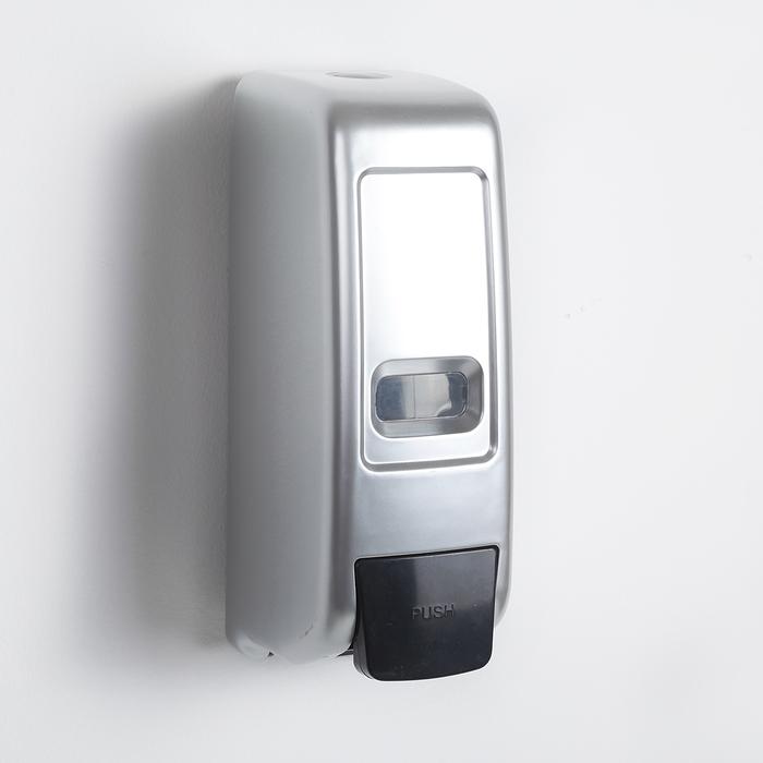 Диспенсер жидкого мыла механический 600 мл, пластик, цвет серый