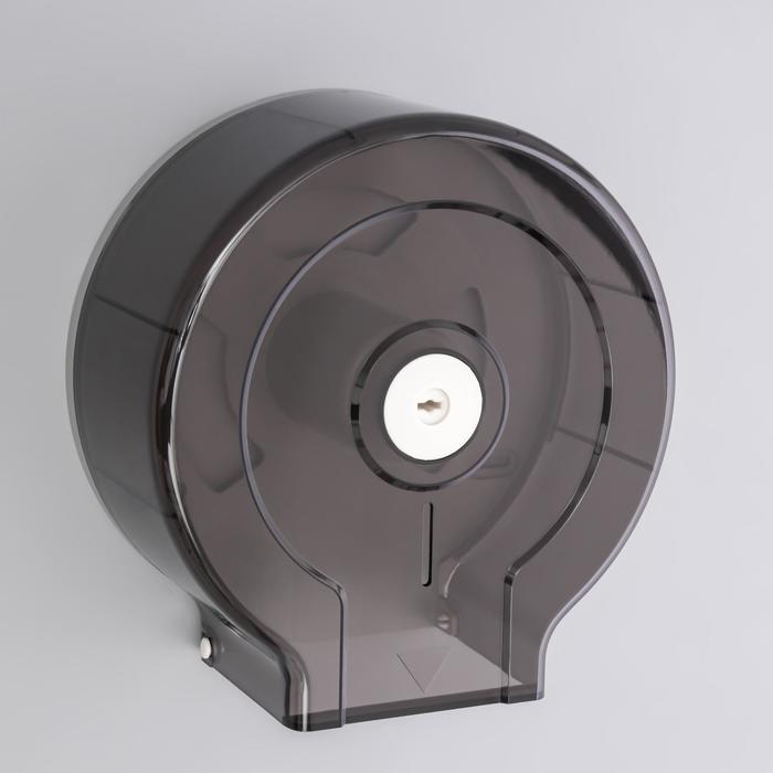 Диспенсер туалетной бумаги, втулка 6,5 см, цвет черный