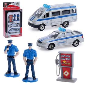 Набор «Полиция с фигурками и аксессуарами», 2 штук, 7 см, МИКС