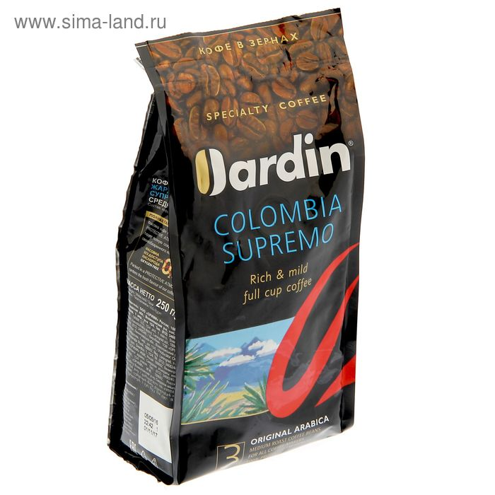 Кофе JARDIN Columbia supremo зерно 250 гр.