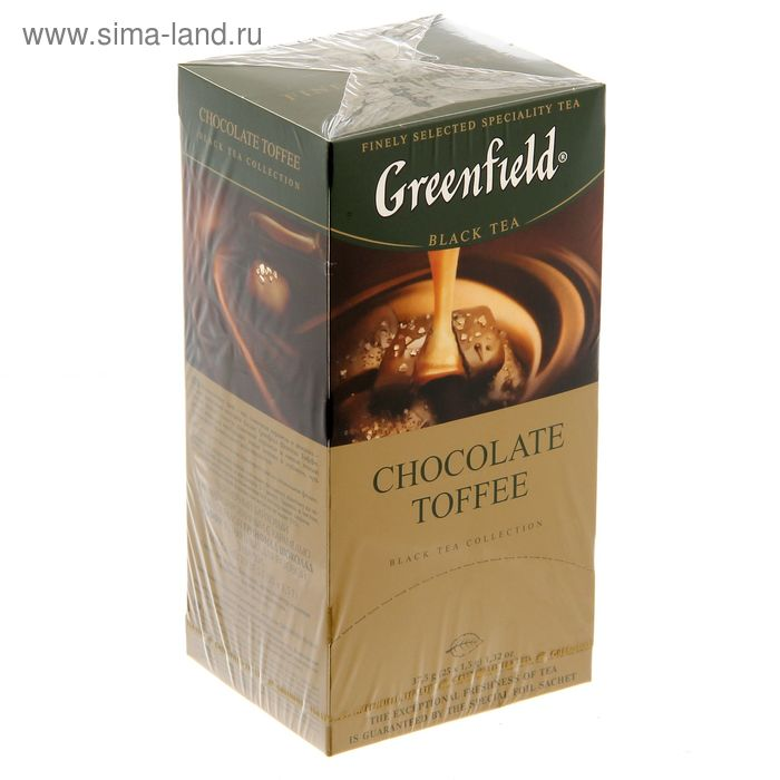 Чай Гринфилд Chocolate Toffi black tea 25п*1,5 гр.
