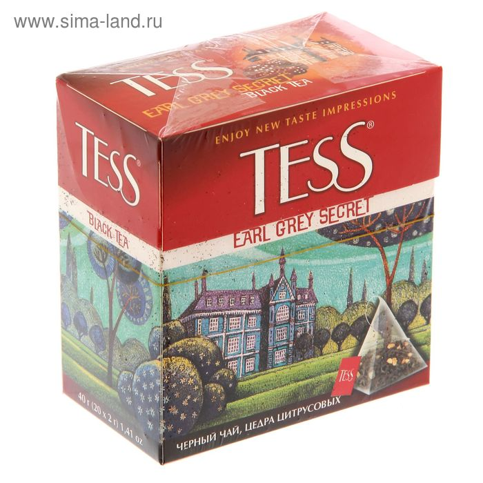 Чай Tess пирамидки Earl Grey Secret, black tea, 20п*2 гр.