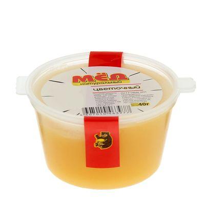 """Медовая компания """"Мёд правильных пчёл"""" цветочный, пластиковое ведро, 40 гр."""