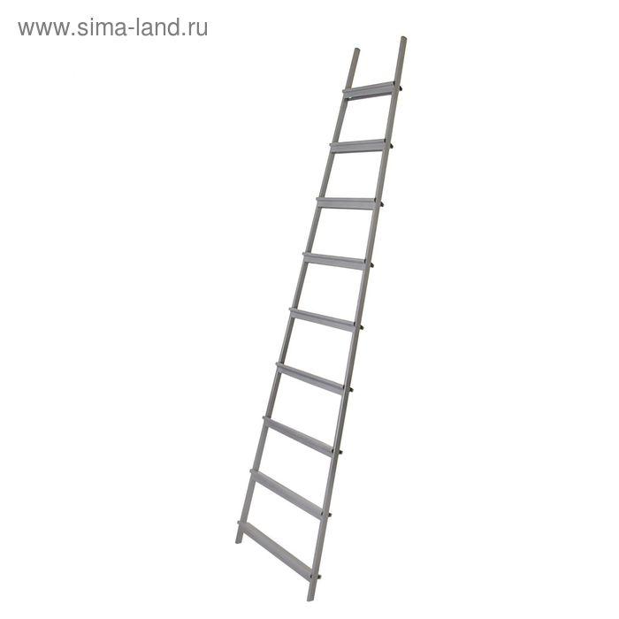 Лестница приставная, 9 ступеней, 2.5 м