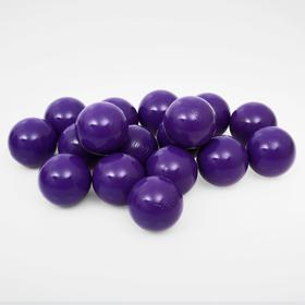Balls to the dry pool with the pattern, diameter of bowl 7.5 cm, set of 500 pieces, the color purple