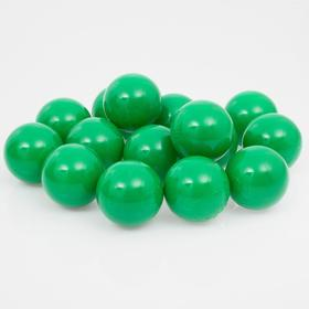 Balls to the dry pool with the pattern, diameter of bowl 7.5 cm, set of 500 pieces, color: green
