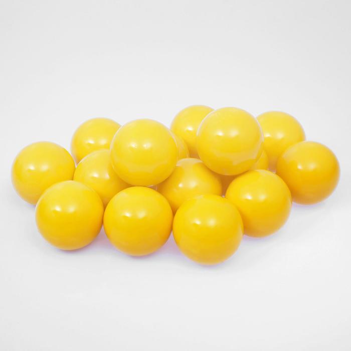 Шарики для сухого бассейна с рисунком, диаметр шара 7,5 см, набор 500 штук, цвет жёлтый