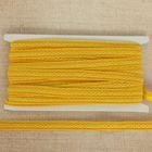 """Тесьма декоративная """"Косичка"""", ширина 1,5см, длина 10±1м, цвет желтый"""