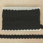 Тесьма декоративная «Волны», 15 мм, 10±1м, цвет чёрный