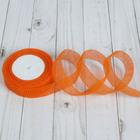Лента капроновая гофрированная, 25мм, 10±1м, цвет оранжевый