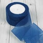 Лента капроновая гофрированная, 50мм, 10±1м, цвет синий