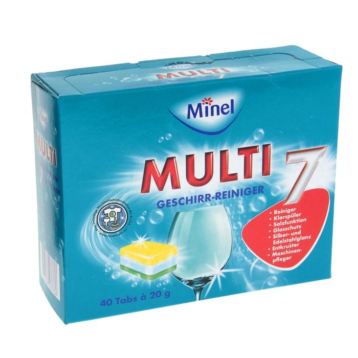 """Таблетки для посудомочной машины Minel """"7 функций"""", 40 шт."""