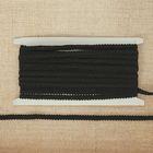 Тесьма декоративная плетенка, ширина 0,8см, длина 10±1м, цвет чёрный