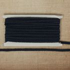 Тесьма декоративная плетенка, ширина 0,8см, длина 10±1м, цвет синий