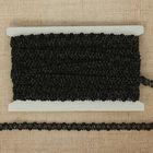 """Тесьма декоративная """"Переплетение"""", ширина 0,8см, длина 10±1м, цвет чёрный"""