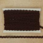 Тесьма декоративная переплетение, ширина 0,8см, длина 10±1м, цвет коричневый