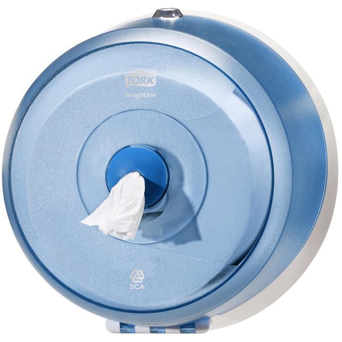 Диспенсер Tork SmartOne для туалетной бумаги в мини рулонах (T9) синий