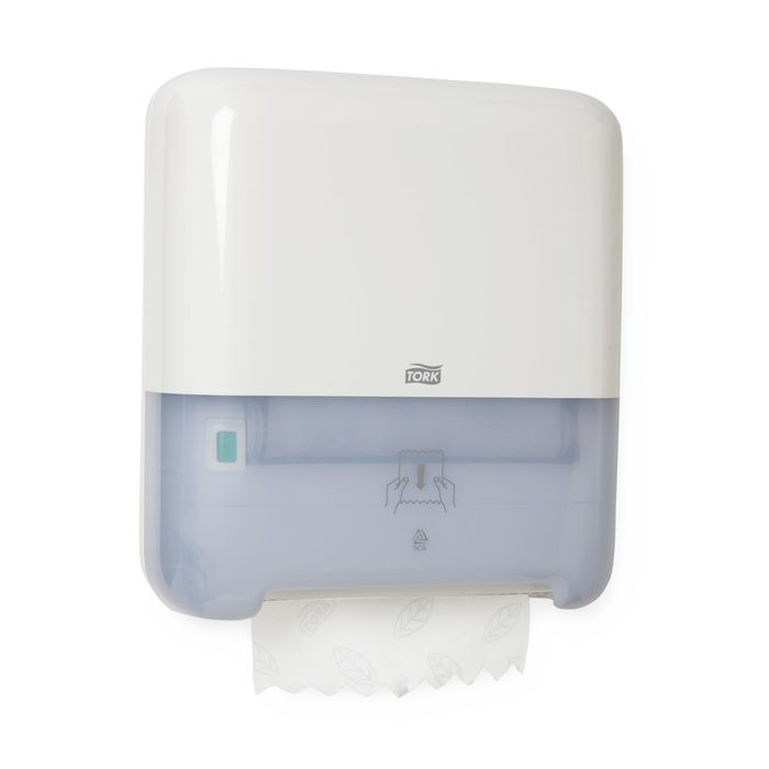 Диспенсер для рулонных полотенец Tork Matic (H1) белый