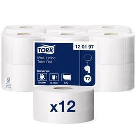 Туалетная бумага для диспенсера Tork в мини рулонах (T2)