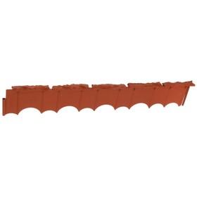 Бордюр «Камешки», 75 × 13 × 2 см, терракотовый Ош