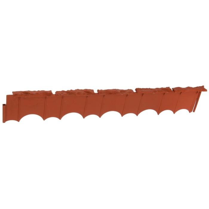 Бордюр «Камешки», 75 × 13 × 2 см, терракотовый - фото 1650606