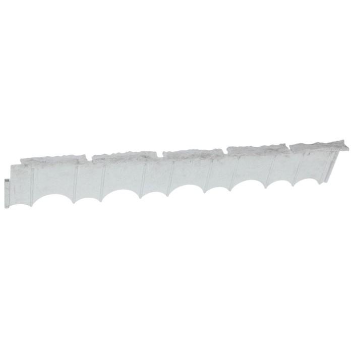 Бордюр «Камешки», 75 × 13 × 2 см, серый