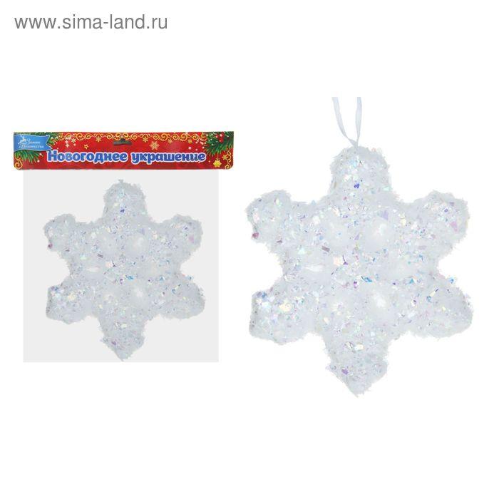 """Ёлочная игрушка """"Снежный пух"""" пухлая снежинка"""