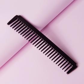 Расчёска простая, цвет чёрный Ош
