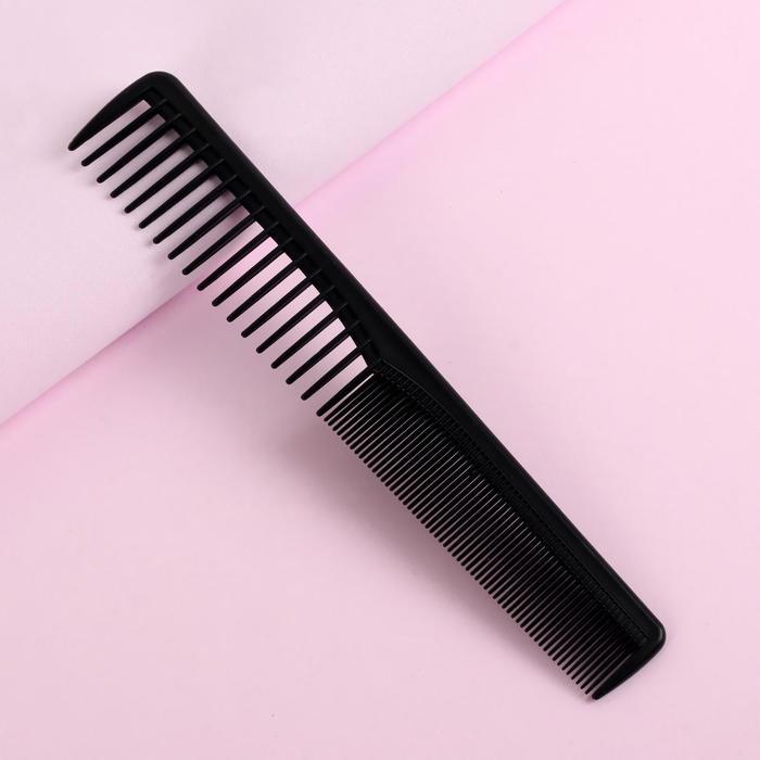 Расчёска комбинированная, скошенная, цвет чёрный