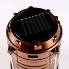 Фонарик 220 В переносной, раздвижной, солнечная энергия, USB, 4 АА, микс, 11х25 см