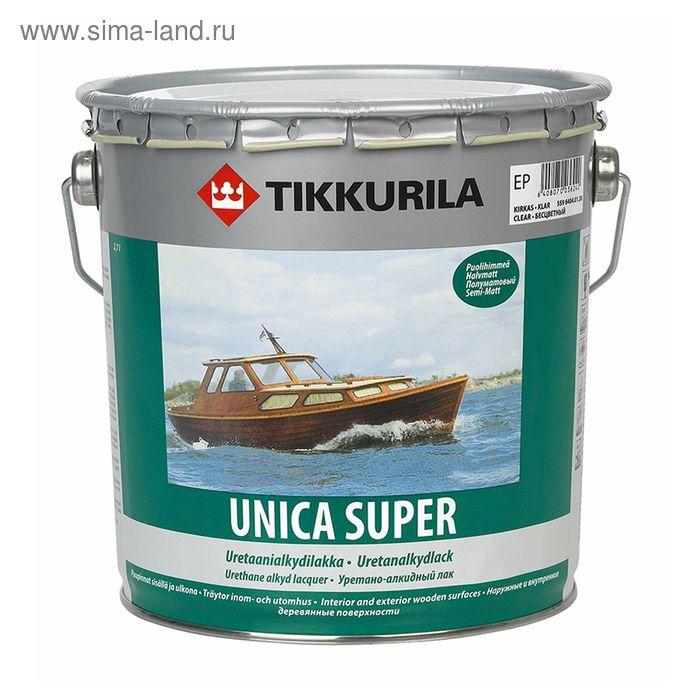 Лак Tikkurila UNICA SUPER полуматовый 2,7 л