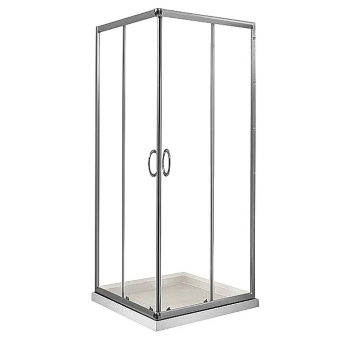Душевое ограждение Comforty 88 прозр.стекло,низкий акрил. поддон 900*900*1850