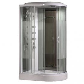 Душевая кабинка Comforty 213L, стекло страйп, задняя зеркальная панель, 120 х 85 х 215 см
