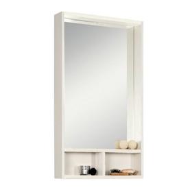 """Шкаф-зеркало """"Акватон"""" """"Йорк 50"""", цвет белый, выбеленное дерево"""