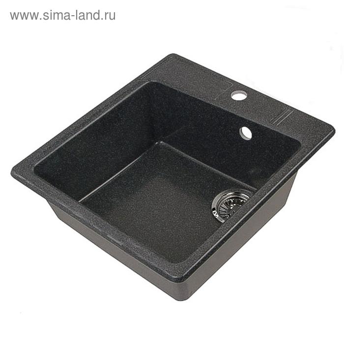 """Мойка кухонная """"Акватон"""" Парма 510*470*175мм черная 130-М.03.200"""