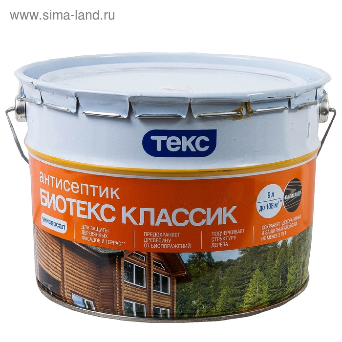 "Антисептик ТЕКС ""Биотекс Классик"" палисандр 9 л"