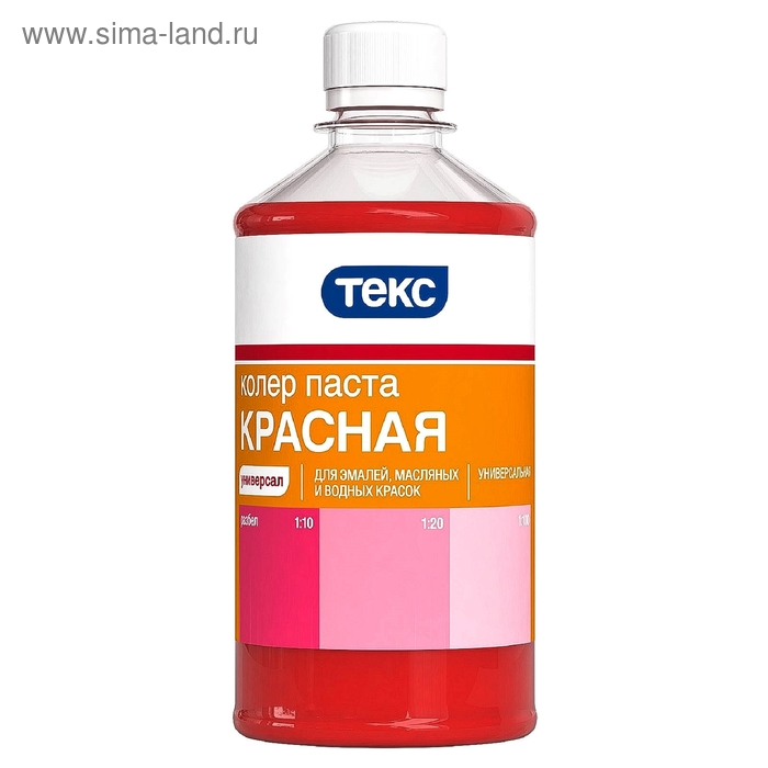 Паста колеровочная ТЕКС универсальная красная 0,5 л