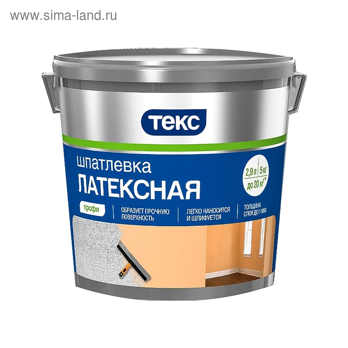 "Шпатлевка ТЕКС финишная ""Профи"" 5 кг"