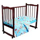 Детское постельное бельё Карамелька Мишки голубой 112*147см, 60*100*20 см пр.на рез., 40*60 см 1 шт., трикотаж хлопок
