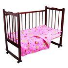 Детское постельное бельё Карамелька Мишки розовый 112*147см, 60*100*20 см пр.на рез., 40*60 см 1 шт., трикотаж хлопок