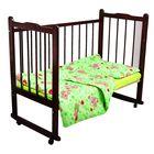 Детское постельное бельё Карамелька Мишки зеленый 112*147см, 60*100*20 см пр.на рез., 40*60 см 1 шт., трикотаж хлопок