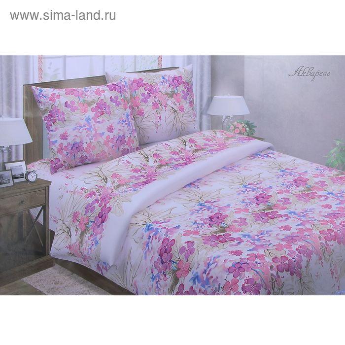 """Постельное бельё Pastel """"Акварель"""" евро, размер 200х217 см, 220х240 см, 70х70 см - 2 шт., поплин, 110 г/м2"""