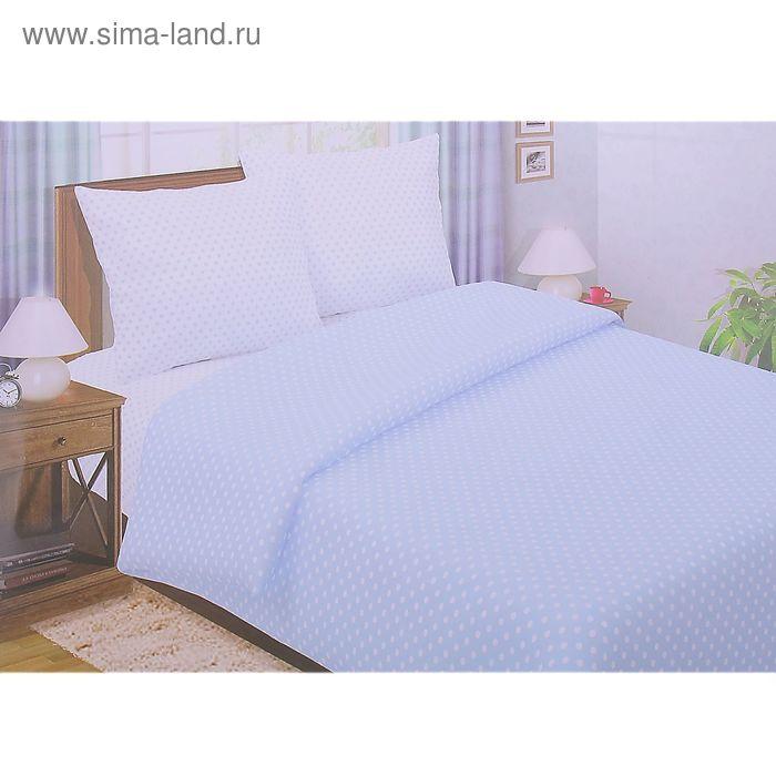 """Постельное бельё Pastel """"Горошек голубой"""" 2 сп., размер 175х217 см, 180х220 см, 70х70 см - 2 шт., поплин, 110 г/м2"""