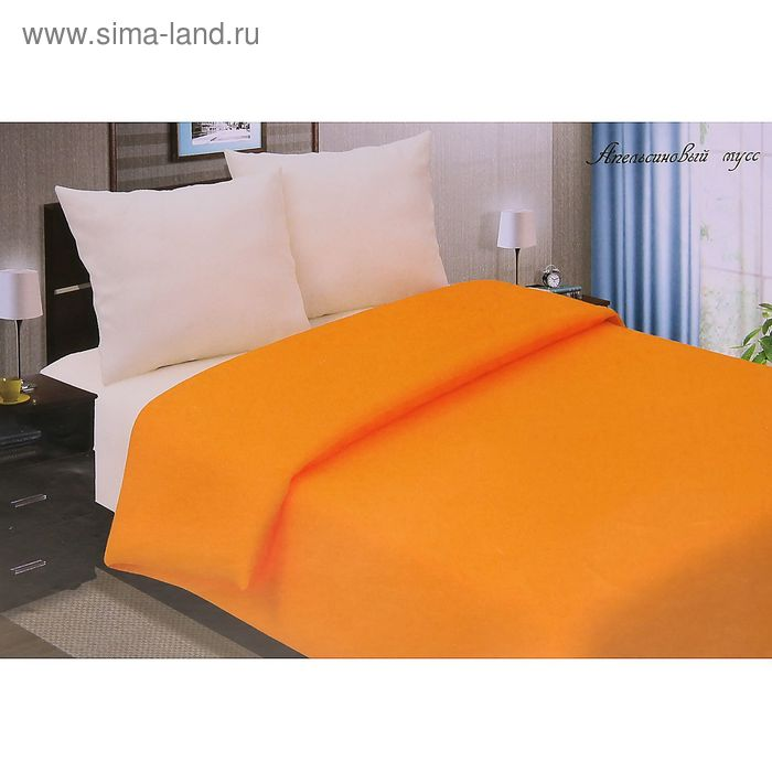 "Постельное бельё Pastel ""Апельсиновый мусс"" дуэт, размер 145х217 см - 2 шт., 220х240 см, 70х70 см - 2 шт., поплин, 110 г/м2"