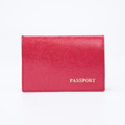 """Обложка для паспорта """"Пионы"""", розовый глянцевый"""