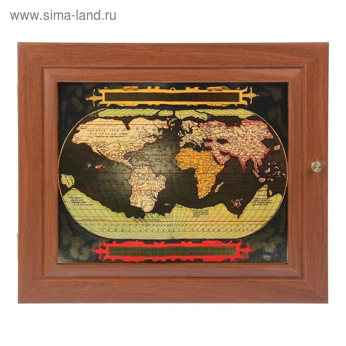 """Ключница """"Карта 1"""" тиснение золотом"""