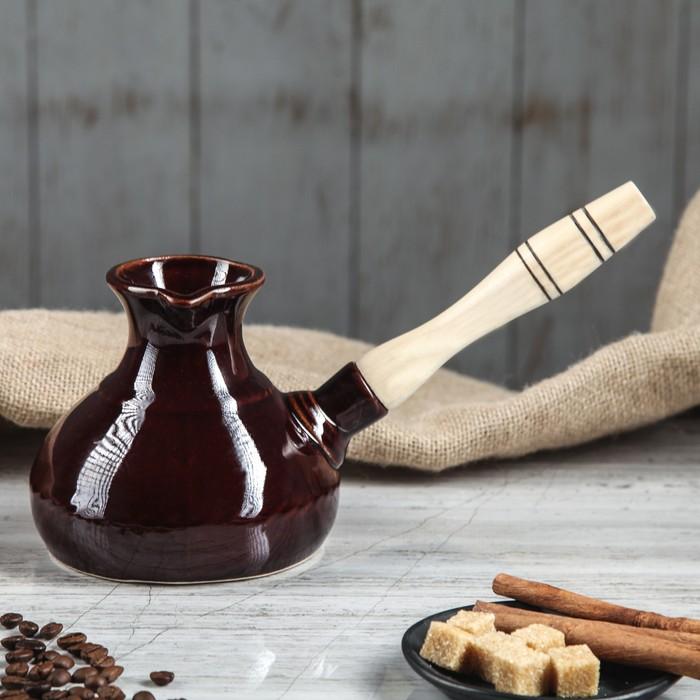 Турка с деревянной ручкой 0,5 л
