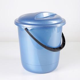 Ведро с крышкой «Классика», 7 л, цвет МИКС