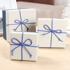 """Набор коробок 3 в 1 """"Классика"""", синий, 13 х 13 х 7,5 - 9 х 9 х 5,5 см"""